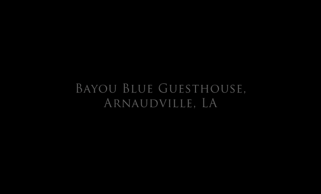 Bayou Blue Guesthouse, Arnaudville, LA title page, and link to: installation: Bayou Blue1