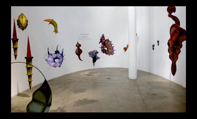 installation image: Equipoise (installation), 2007, Contemporary Arts Center, New Orleans, LA, and link to: installation: Gallery 701, Columbia, SC title page