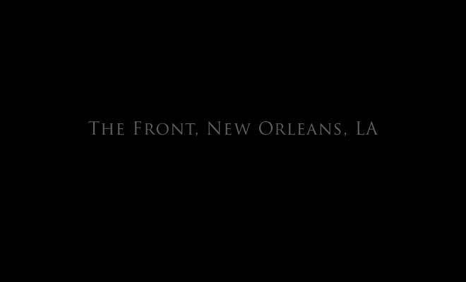 The Front, New Orleans, LA title page